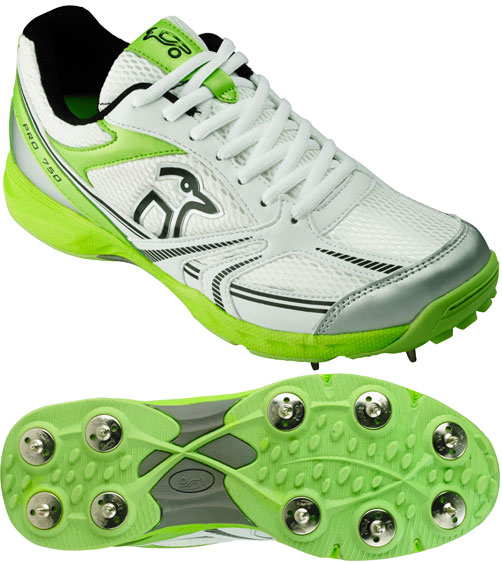 Kookaburra Pro 750 Green Spike Shoes